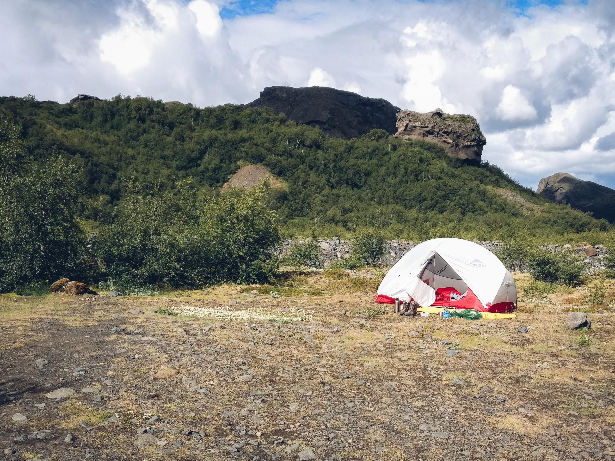 Zelten in Island: Zelt in Básar